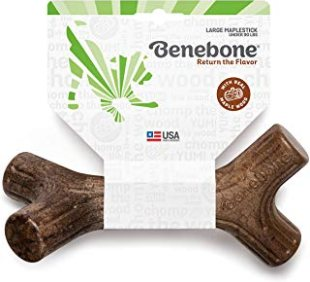 Benebone Maplestick Bacon Stick durable dog Stick Chew Toy
